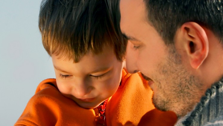 Father and son. Credit: Bigstock