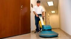 man cleaning floor. Bigstock