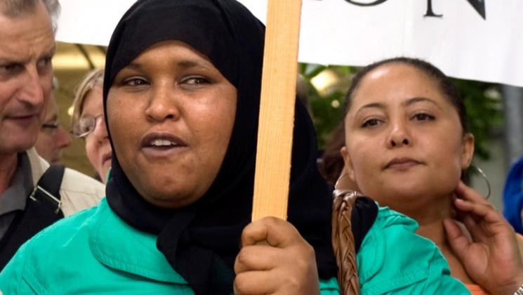 Demonstration at Poplar College