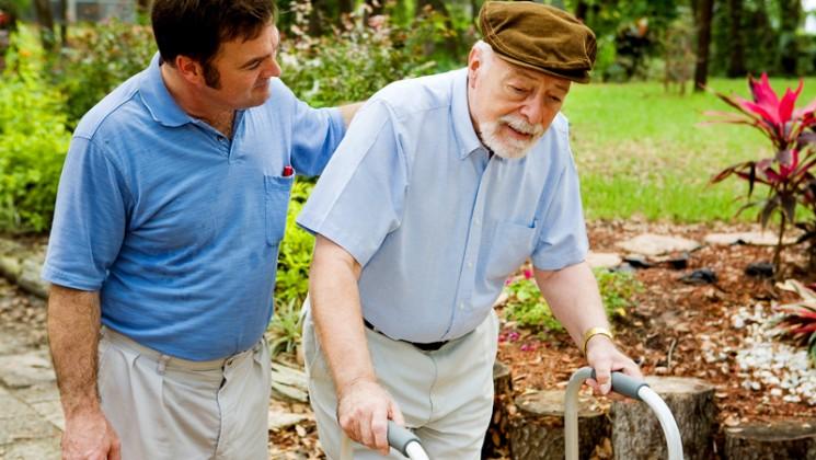 Elderly man with walking aid. Credit: BigStock
