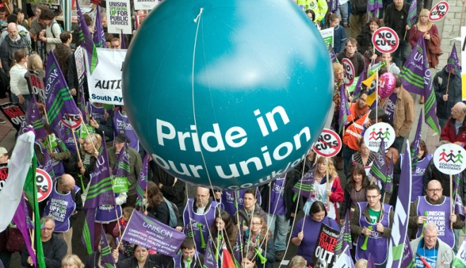 TUC joint union rally/march