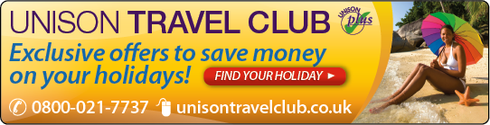 UNISON Travel Club banner