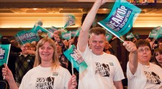 Speak up for Libraries' Rally at Westminster Central Hall, London.
