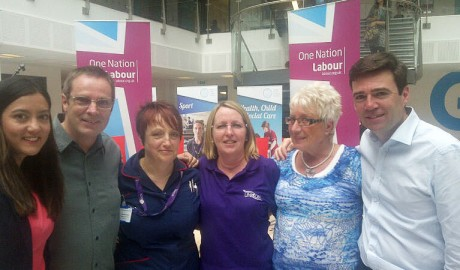 Hastings and Eastbourne Health UNISON branch met Andy Burnham at Sussex College in Hastings.