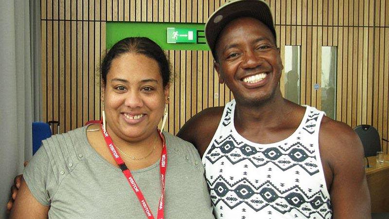 Eastern regional Black members co chairs Asha Wolfe-Robinson and Winston Dorsett