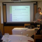 UNISON's Matthew Egan presenting the charter