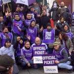 UNISON members working for ISS at SOAS take strike action to win the same terms and conditions as directly-employed staff