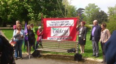Marking International Workers Memorial Day in Southampton