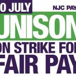 NJC pay 14 strike - social media graphic