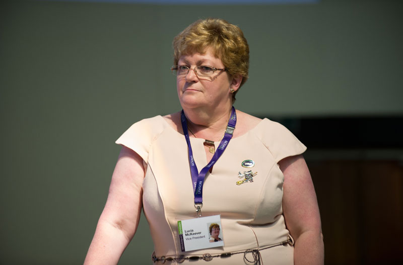 New UNISON president Lucia McKeever. Photo: Marcus Rose / Workers' Photos