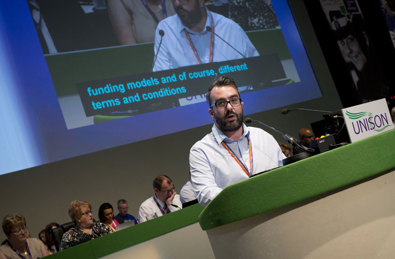 James Anthony debates the future of the NHS. Photo: Marcus Rose