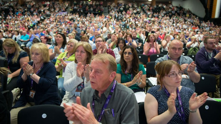 Delegates agree with the general secretary. Photo: Steve Forrest / Workers' Photos