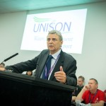 Dave Prentis addresses WET conference. Photo: Steve Forrest / Workers' Photos