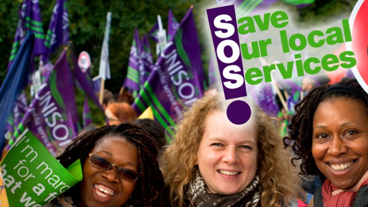 Save our services campaign page graphic
