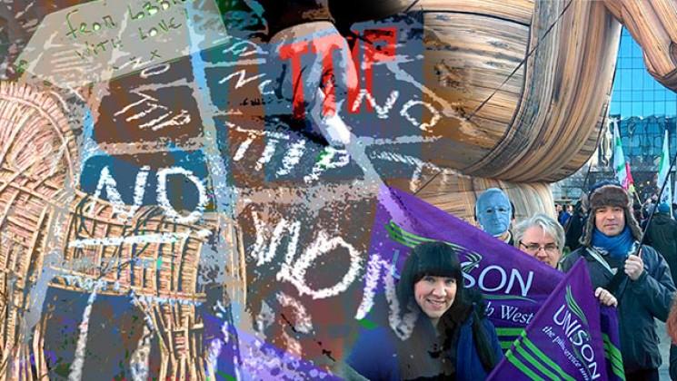 Stop TTIP protestors