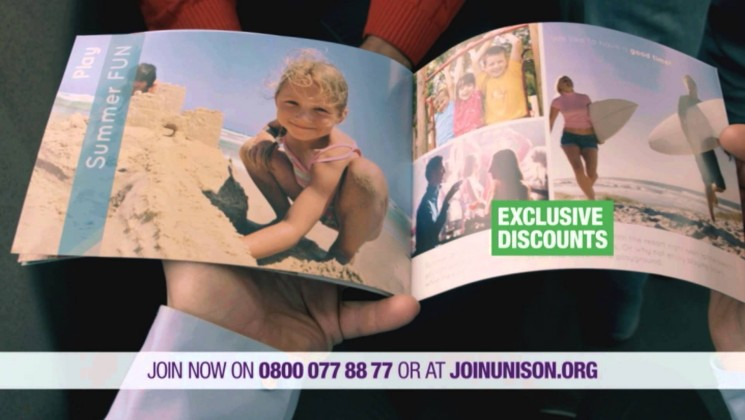 UNISON TV advert - Essential cover before you get to work