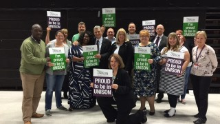 General secretary Dave Prentis with members at the police and justice conference