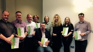 Cymru/Wales mental health champions, with regional secretary Margaret Thomas and Carmen Bezzina