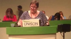 Steph Davies Branch Sec Newport City, supporting motion