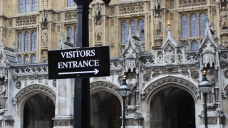 Visitors' entrance to Palace of Westminster