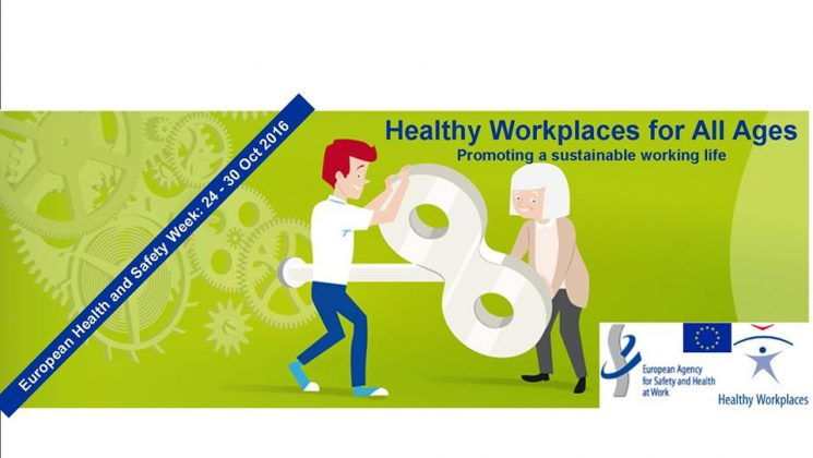 European health and safety week logo