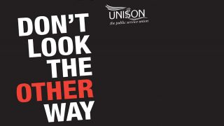 section of poster with the title: don't look the other way