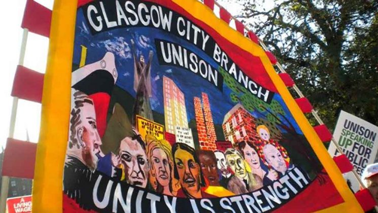 Photograph of the Glasgow branch banner