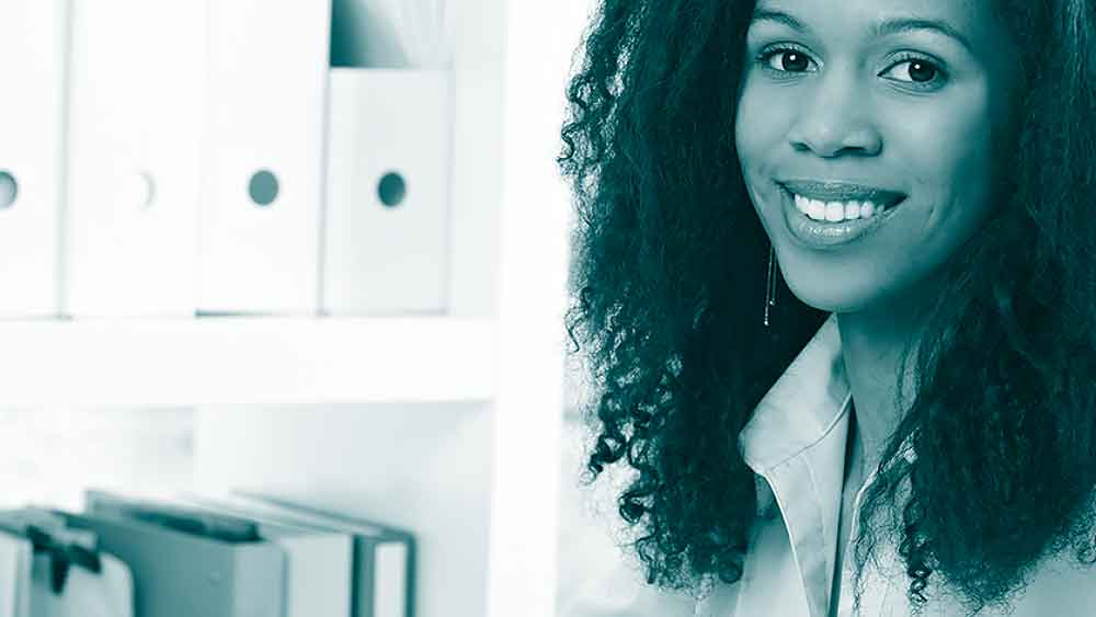 Photograph of smiling Black woman