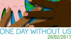 One day without us hands logo