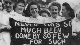 COHSE nursing students taking action in 1948
