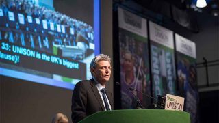 Dave Prentis speaking at UNISON Conference