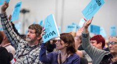 UNISON delegates voting at health conference 2017