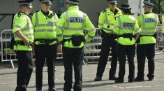 Police officers on a Glasgow street
