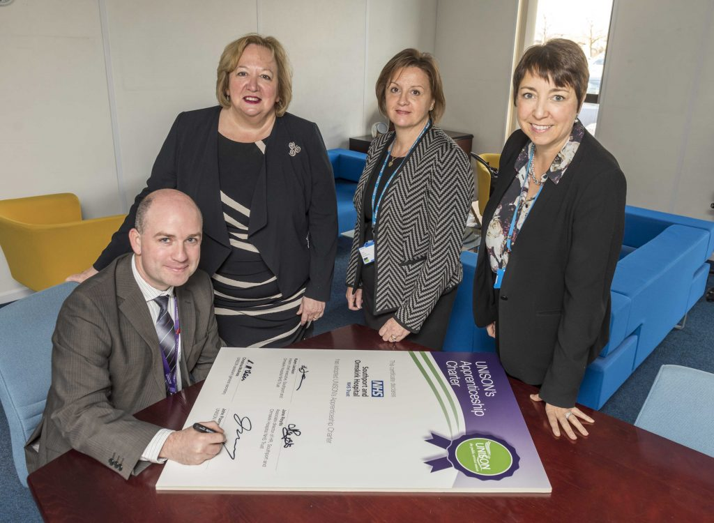 Unison's Apprenticeship Charter at Southport and Ormskirsk Hospital NHS Trust