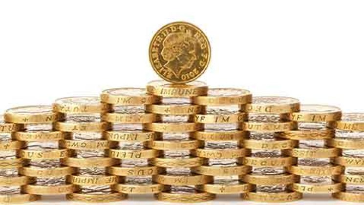 stacked pound coins
