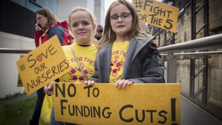 Parents and children campaign at Westminster