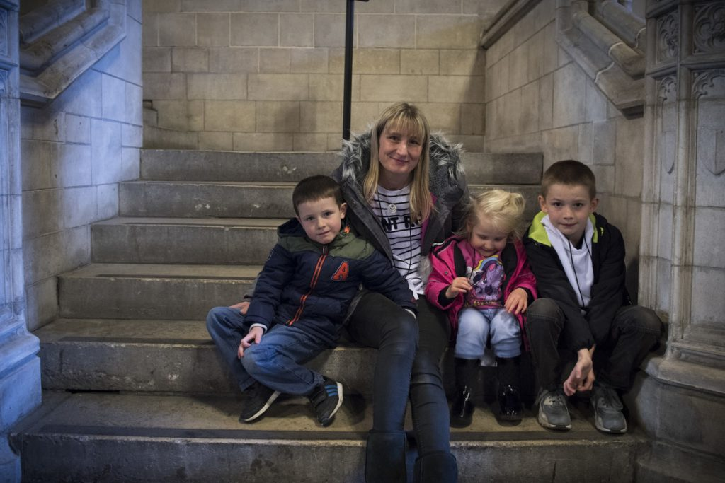 Families protest at Parliament