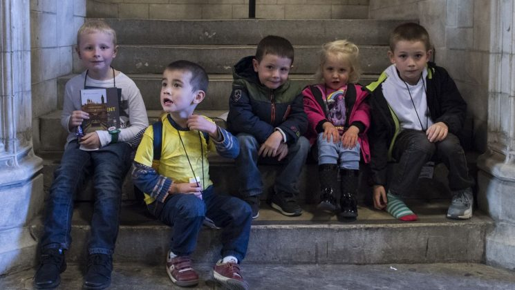 Children at the Houses of Parliament