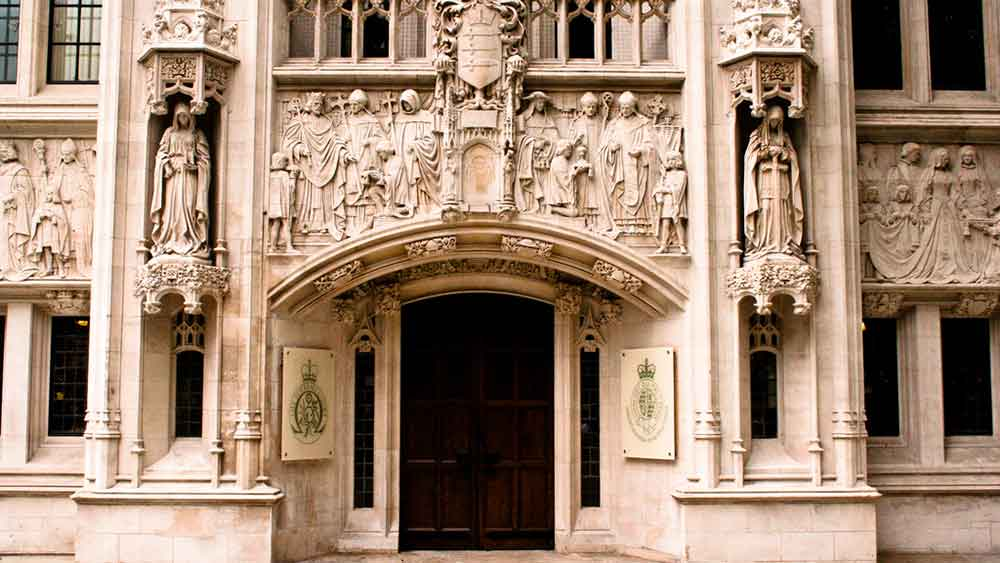 The entrance of the Supreme Court