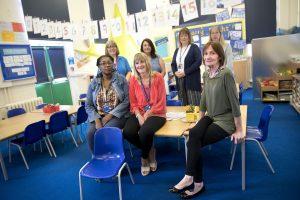 Women in a class room