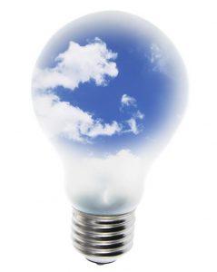 bulb with sky