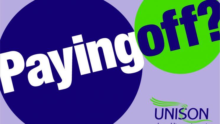 Paying off logo