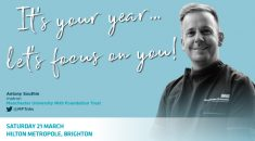 It's your year, let's focus on you! Image of male nurse