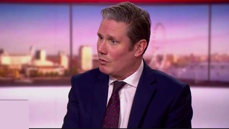 screenshot of Keir Starmer on Andrew Marr Show