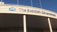 "Scottish government building signage reading ""The Scottish Government"""