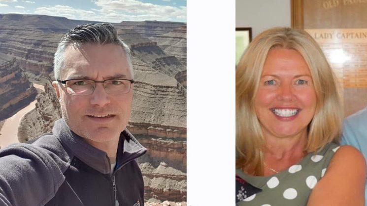 Snapshots of UNISON Deaf activists Iain Scott-Burdon and Gill Jeffery