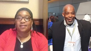 Photos of UNISON Black disabled activists Veronica Price-Job and Peter Daley