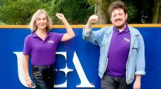 UNISON reps at the University of East Anglia Amanda Chenery-Howes and Dylan Brook Davies