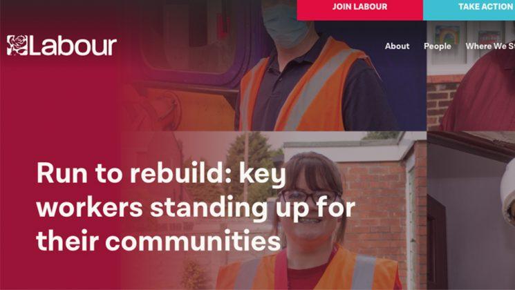 Labour Party Run to Rebuild graphics