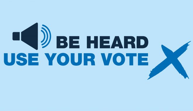 be heard. use your voice